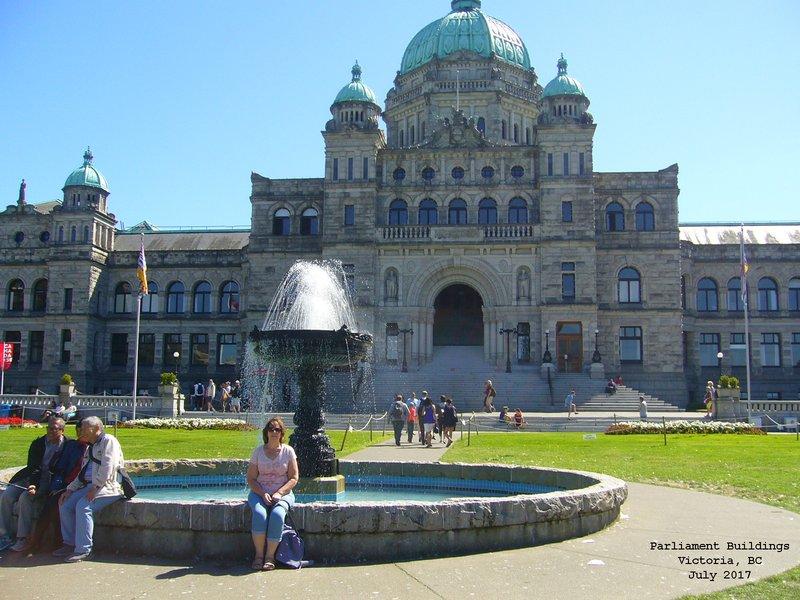 Sue at British Columbia Parliament Buildings - Victoria