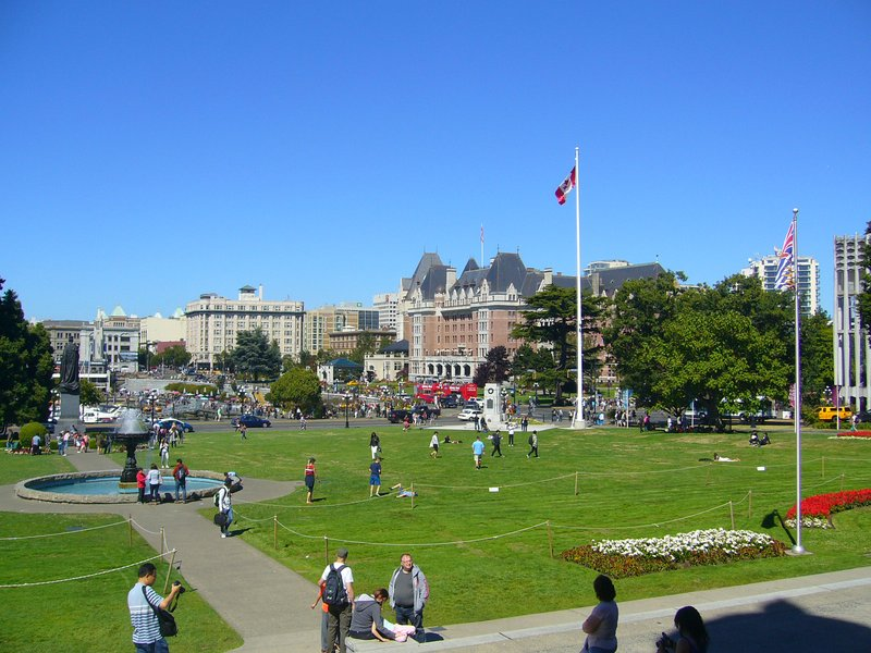 View from steps of Parliament Buildings