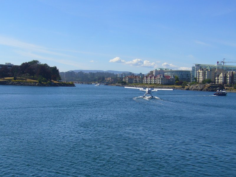 Sea Plane taking off from airport - Inner Harbour