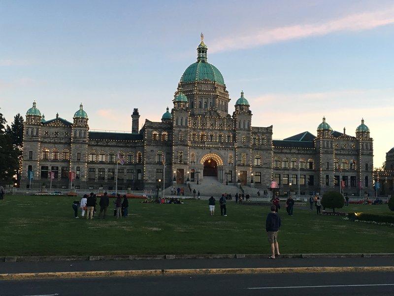 Parliament Buildings at dusk