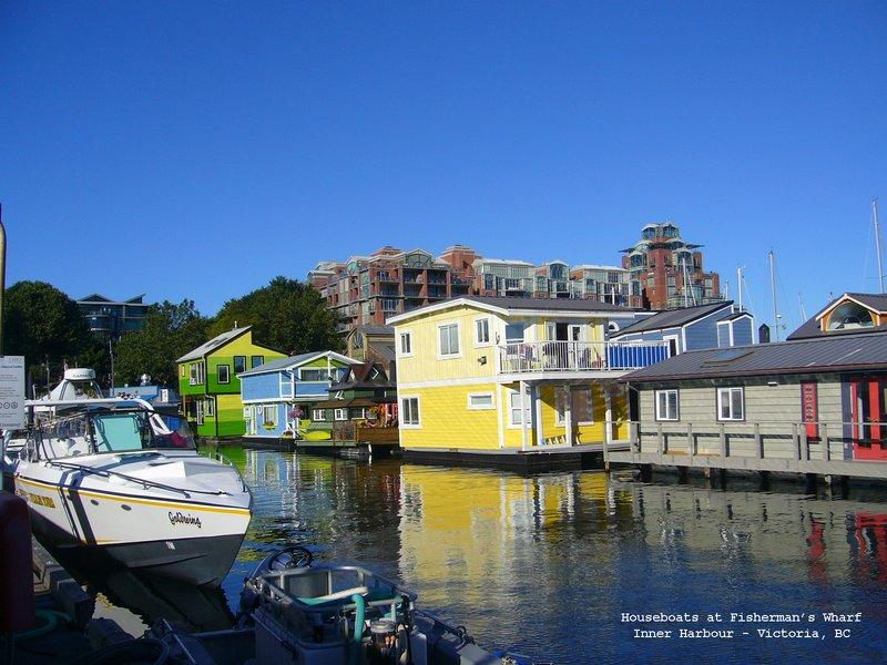 Houseboats at Fisherman's Wharf Victoria