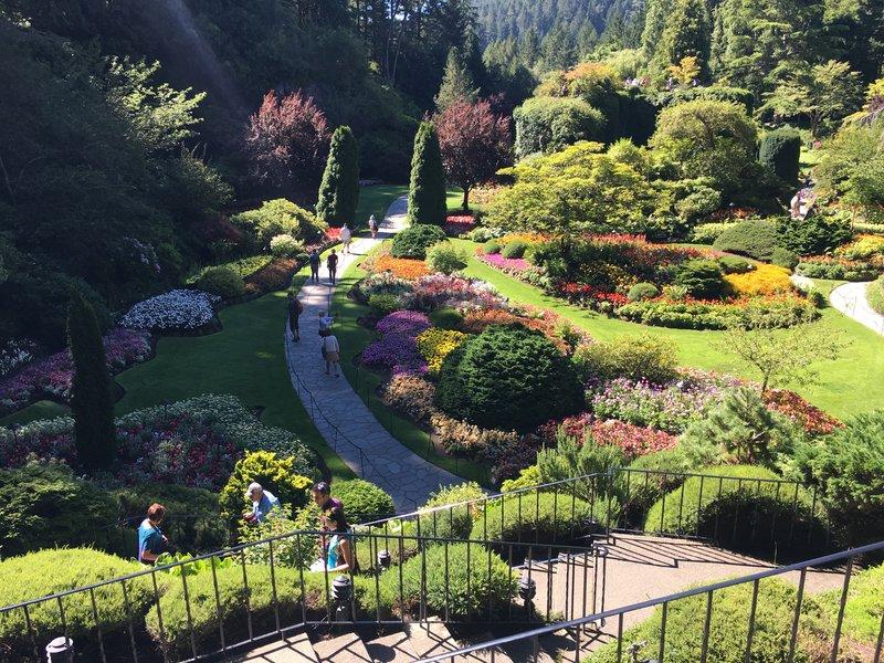 Sunken Gardens in Butchart Gardens