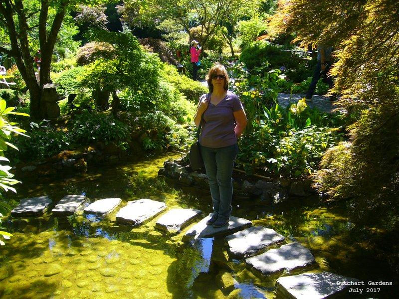 Sue in Butchart Gardens