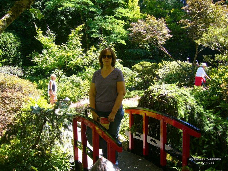 Sue in Japanese Garden