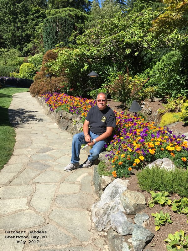 Jerry in Butchart Gardens