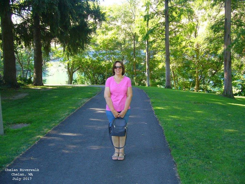 Sue in Chelan Riverwalk Park