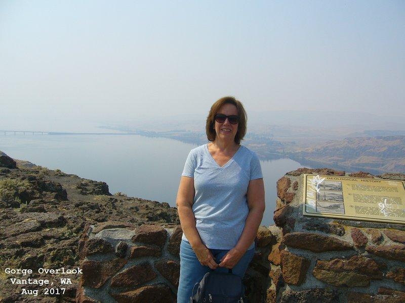 Sue at Gorge Overlook - Vantage, WA