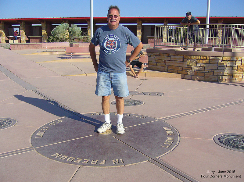 Jerry at Four Corners Monument