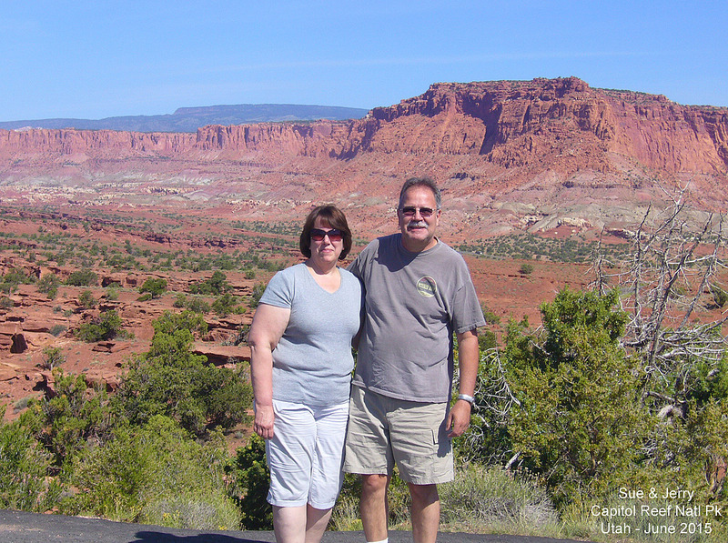 Sue   Jerry - Panorama Point - Capitol Reef NP