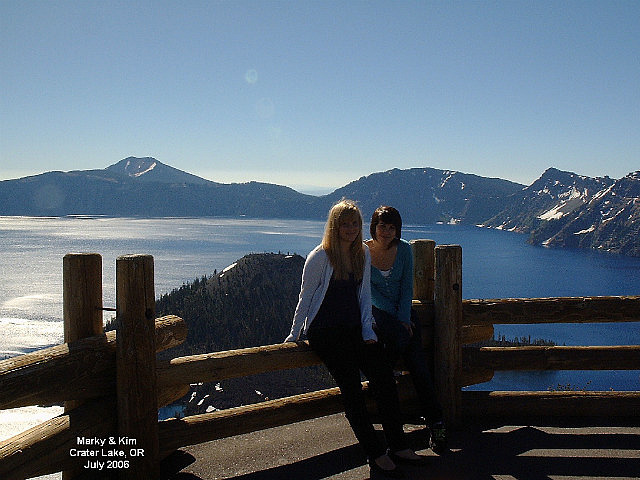 Marky and Kim at Crater Lake National Park Oregon