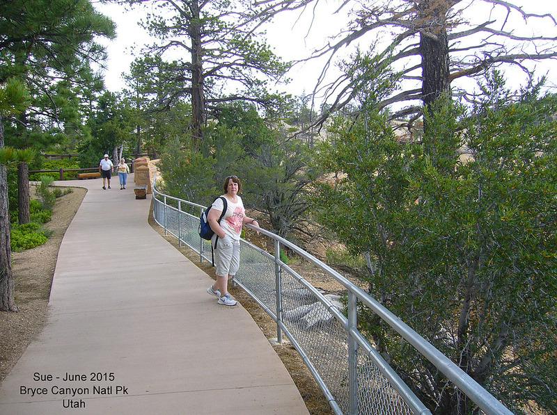 Sue at Paria View - Bryce Canyon National Park