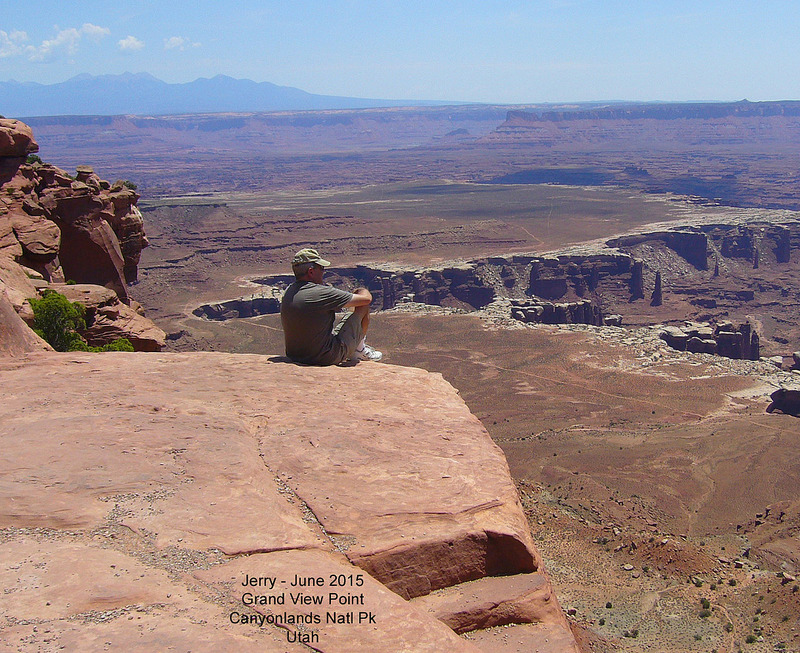 Jerry at Grand View Point - Canyonlands Natl Pk