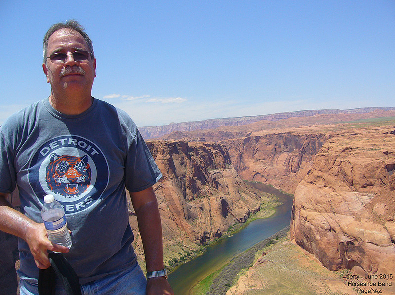Jerry at Horseshoe Bend in Glen Canyon NRA