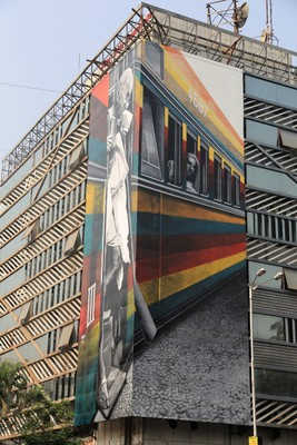 Brazilian Artist Eduardo Kobra Mural Art On The Churchgate Railway Station Building