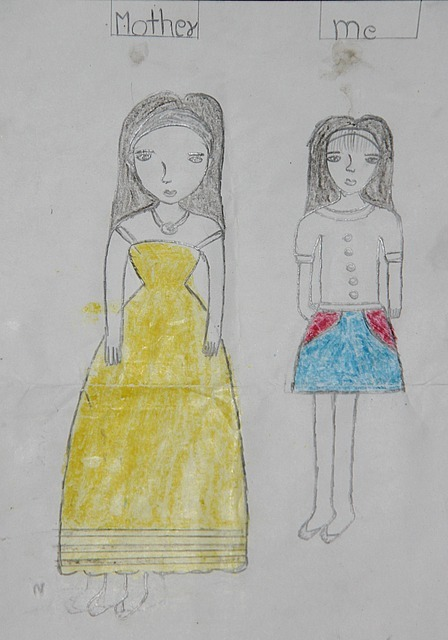 Nang's drawing of her and her mother