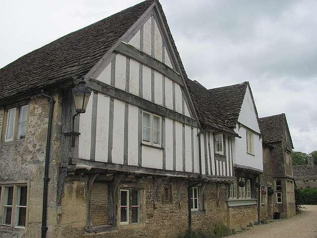 Lacock, half timbered house
