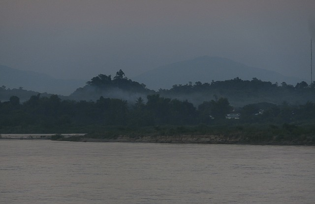 Twilight over Laos
