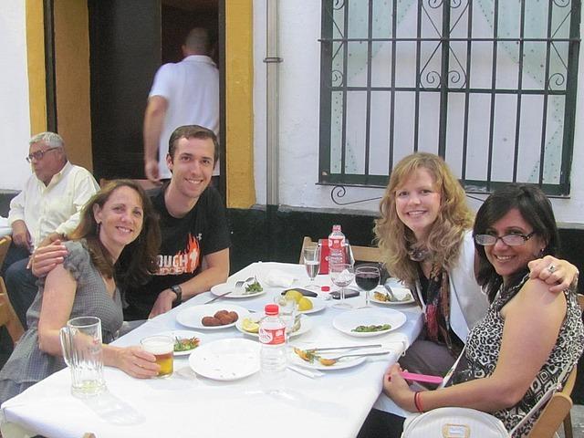 Dinner with Chris, Steph, Sunita