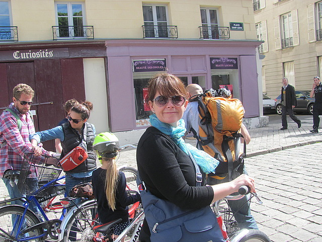 Deb on her bike