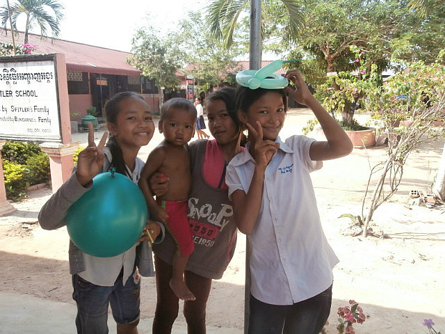 Just some kids hanging around at school.