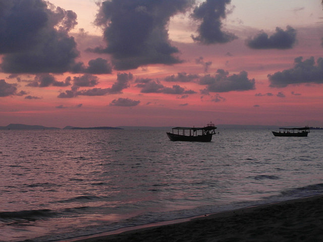 Sunset at Otres Beach