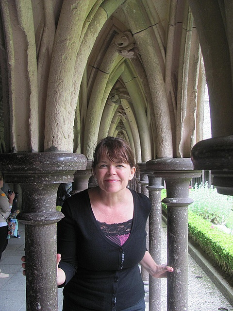 Deb in the cloisters