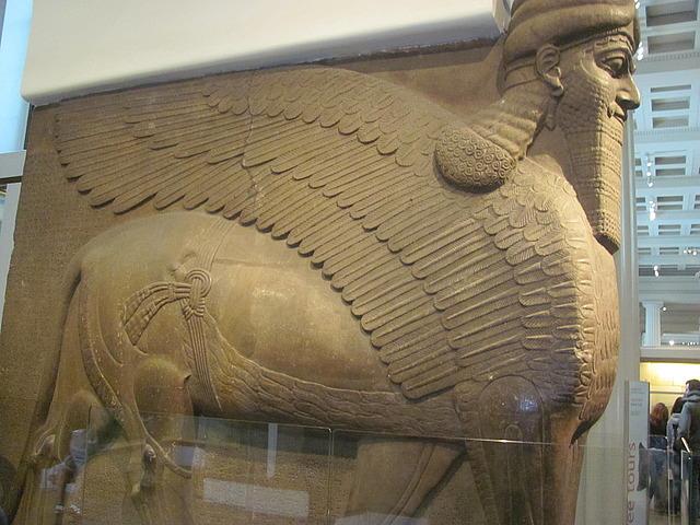 Assyrian guard statues