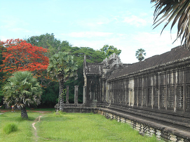 The first wall around Angkor Wat