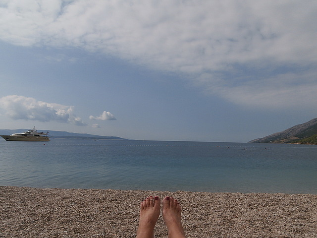 Chillin' at Brac beach