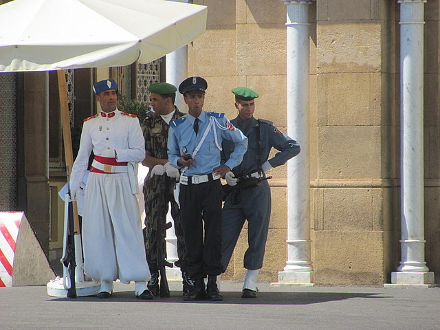An assortment of guards-Kings's Palace -Rabat