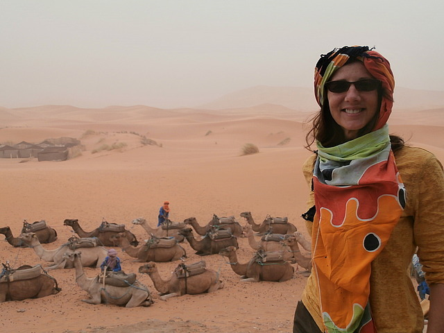 Ready for my camel trek!