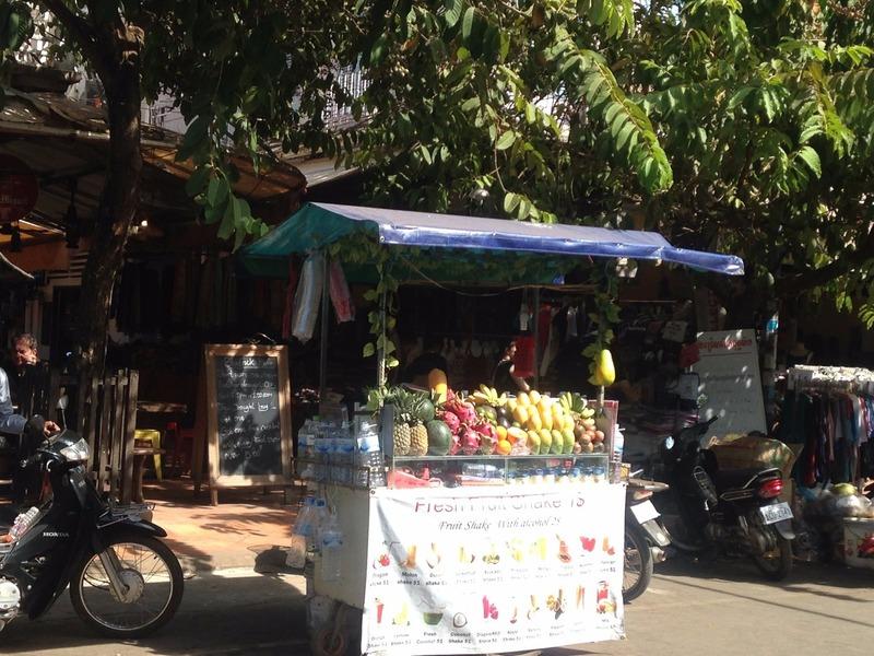Fruit shake cart