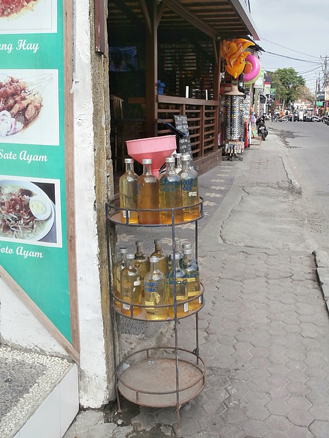 Typical Balinese gas station