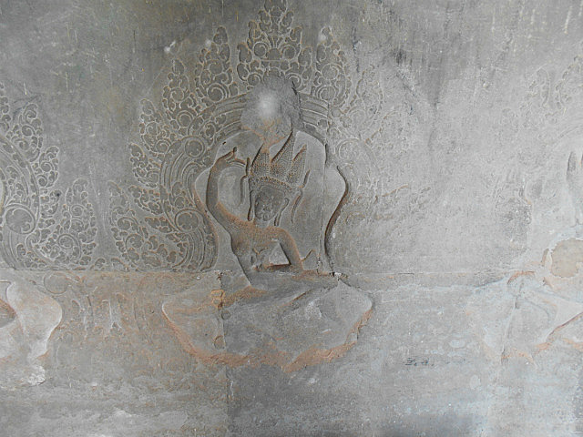 Part of the Angkor Wat bas reliefs