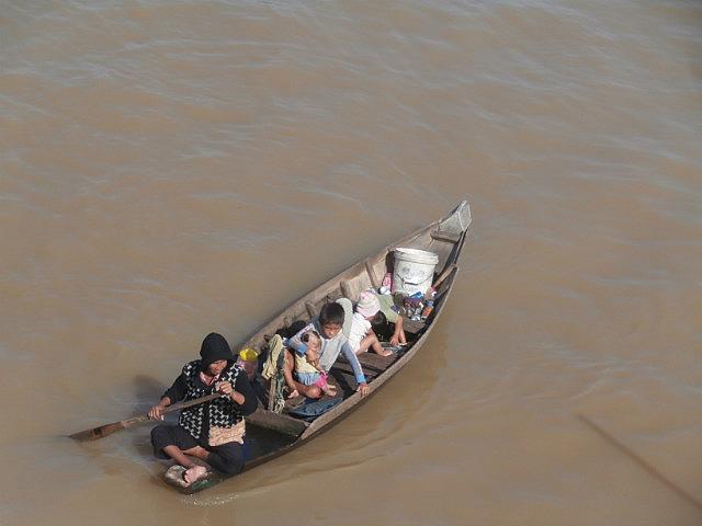 Floating village family