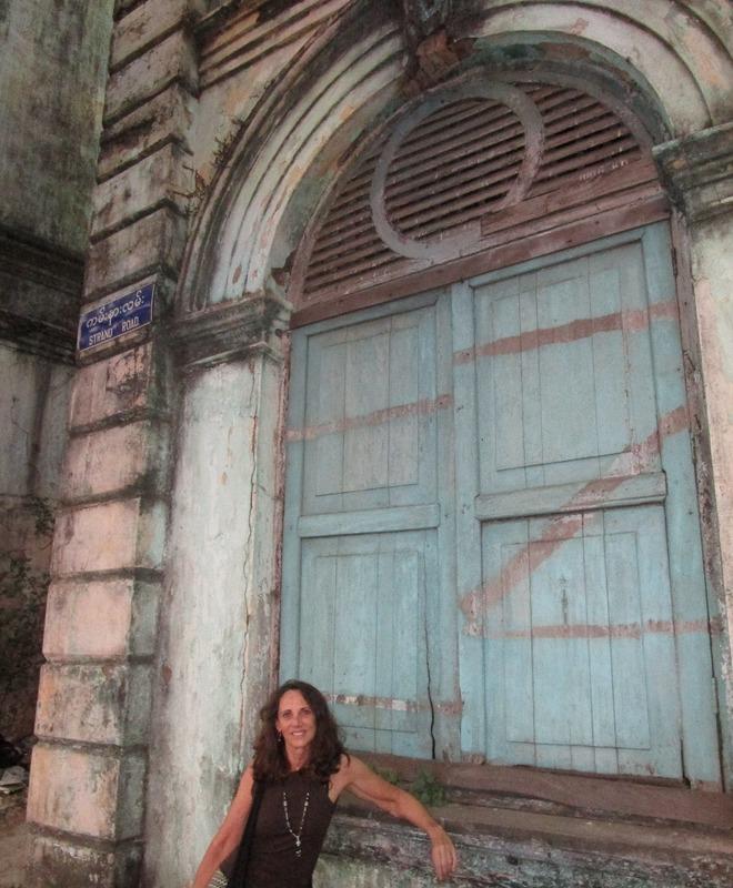 Me on a Yangon street
