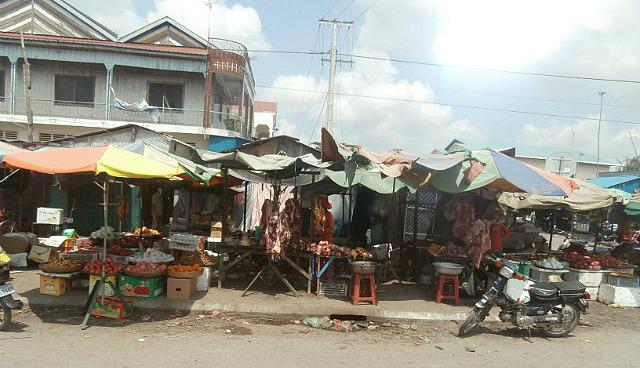 Street market  near Phnom Penh
