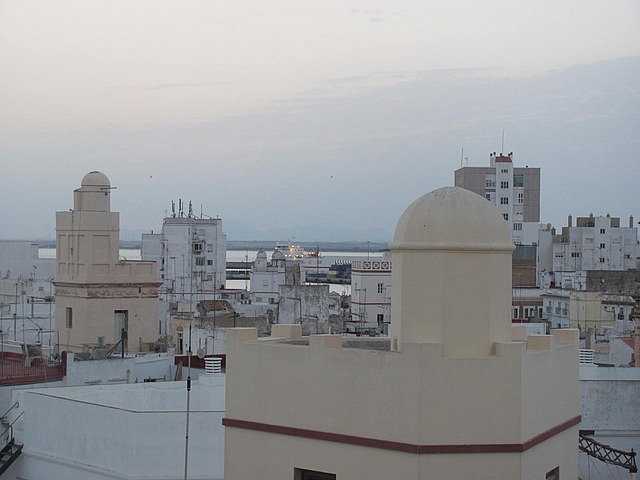 View from our roof top terrace