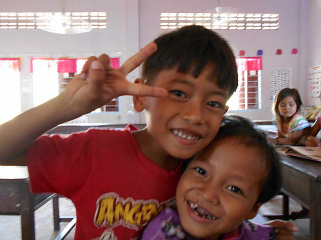 Two first graders from Kurata