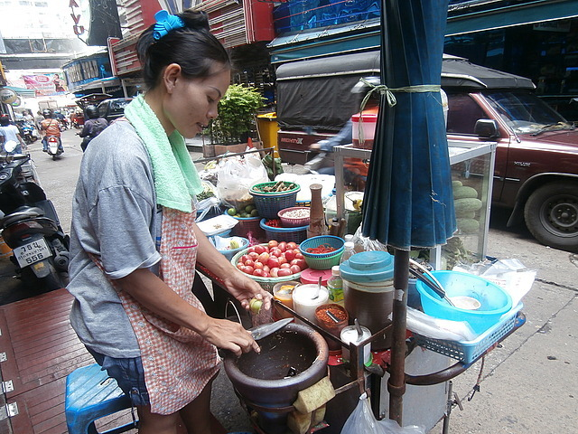 My first Street food vendor
