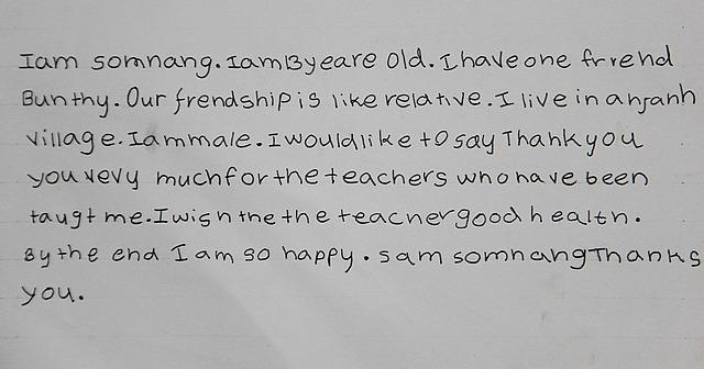 Somnang's essay