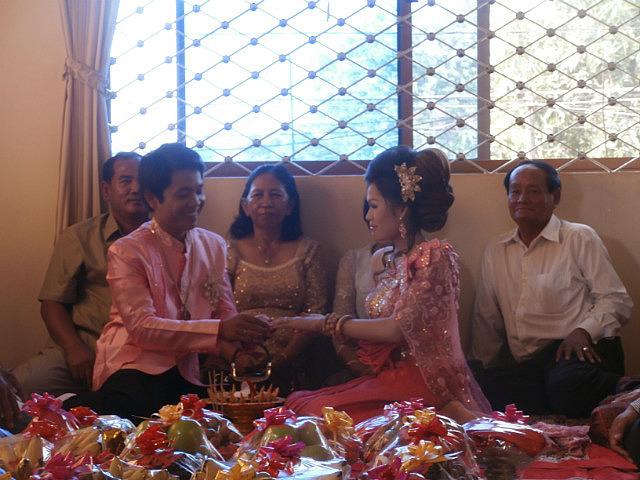 Engagement ceremony, ring exchange