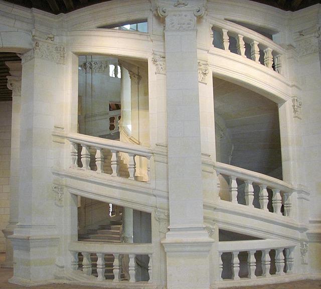 da Vinci's double spiral staircase