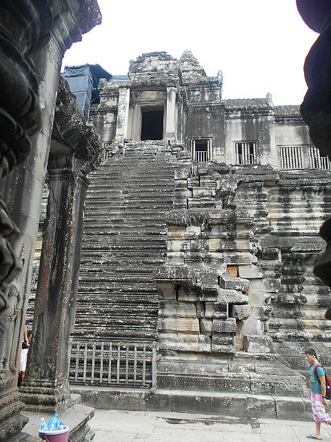 Stairs to the top level of Angkor Wat