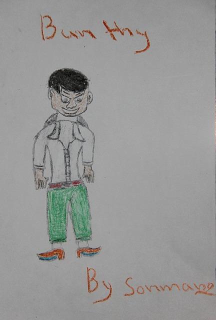Somnang's drawing of Bunthy