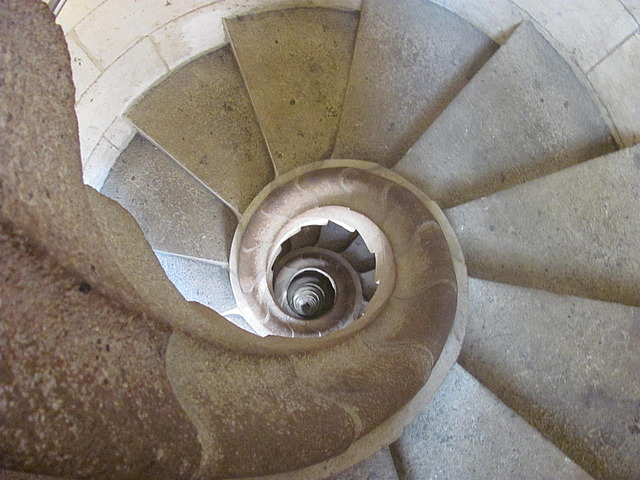 Going down the bell tower stairs