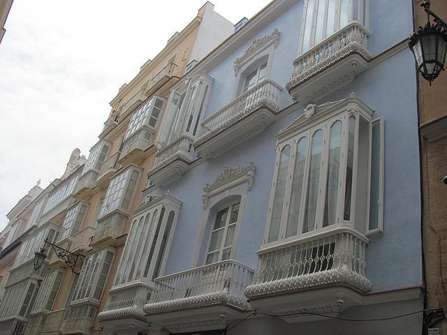 Balconies along Calle Ancho