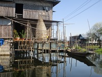Floating village house