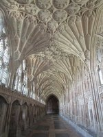 Cloisters fan vaulting Gloucester cathedral