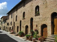 Typical tuscan street